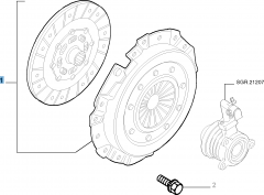 Clutch kit (clutch disc and pressure plate) for Fiat Stilo