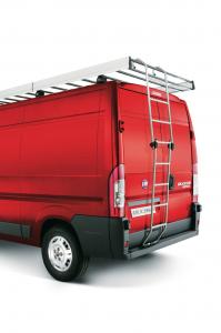 Folding aluminium ladder for Fiat Professional Ducato
