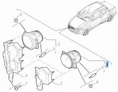 Fog light for Fiat Professional Strada