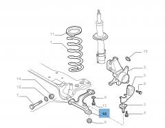 Left control arm for Fiat Professional Ducato