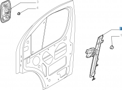Front left window regulator, electric for Fiat Professional Ducato