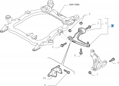 Right control arm for Fiat and Fiat Professional