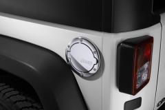 Fuel filler door chrome with Jeep logo