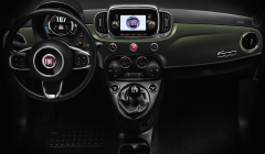 Wrapped dashboard military green, right-hand drive - short part