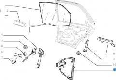 Rear right window regulator, electric for Fiat Palio