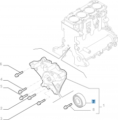 Fixed tensioner for Alfa Romeo 159