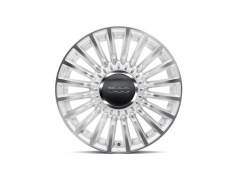 Set of 16'' diamond design matte white alloy wheels