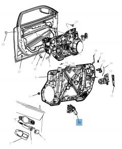 Front window regulator for Lancia Thema