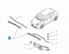 Kit 2 spazzole tergicristalli anteriori per Mito