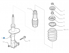 Front right shock absorber for Fiat and Fiat Professional