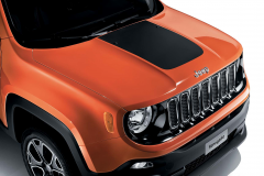 Matte black bonnet decal for Jeep Renegade