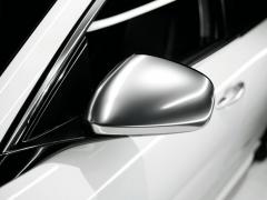 Satin chrome mirror cover caps for Alfa Romeo