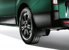 Rear mudguards in grained polyurethane for Fiat Professional Talento