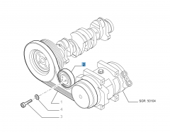 Fixed tensioner for Fiat Professional Ducato