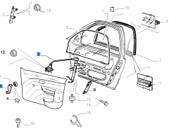 Front right window regulator, manual for Fiat and Fiat Professional