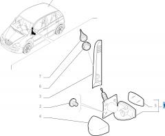 External left wing mirror, manual