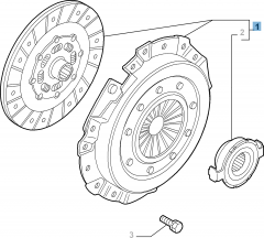 Clutch kit (clutch disc, pressure plate and release bearing) for Alfa Romeo