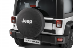 Spare tyre cover with white Jeep logo