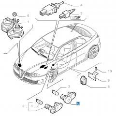 Side direction indicator lamp for Alfa Romeo