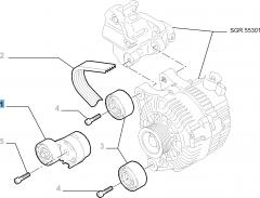 Adjustable tensioner for Fiat Professional Scudo
