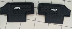 Rear rubber floor mats (black)